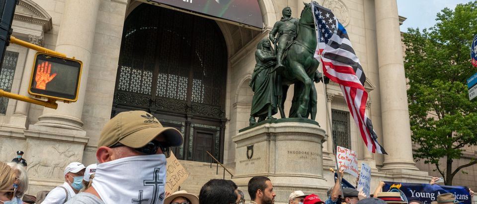 Rally Held In New York City To Support Teddy Roosevelt Statue