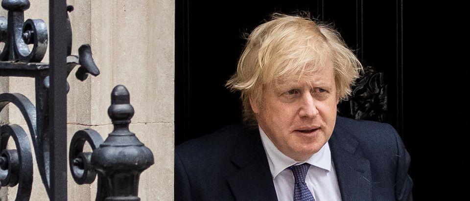 Prime Minister Boris Johnson Leaves For PMQs