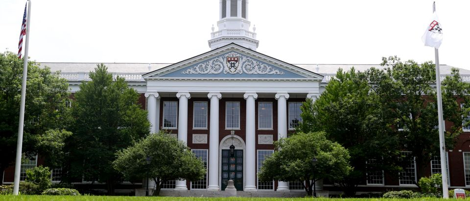 CAMBRIDGE, MASSACHUSETTS - JULY 08: A view of the campus of Harvard Business School on July 08, 2020 in Cambridge, Massachusetts. Harvard and Massachusetts Institute of Technology have sued the Trump administration for its decision to strip international college students of their visas if all of their courses are held online. (Photo by Maddie Meyer/Getty Images)