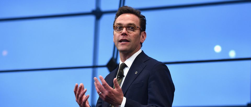 CEO of 21st Century Fox James Murdoch speaks at National Geographic's Further Front Event at Jazz at Lincoln Center on April 19, 2017 in New York City. (Bryan Bedder/Getty Images for National Geographic)
