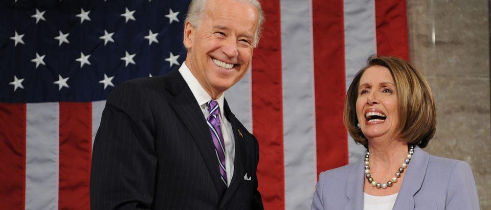 US Vice-President Joe Biden (L) and Spea