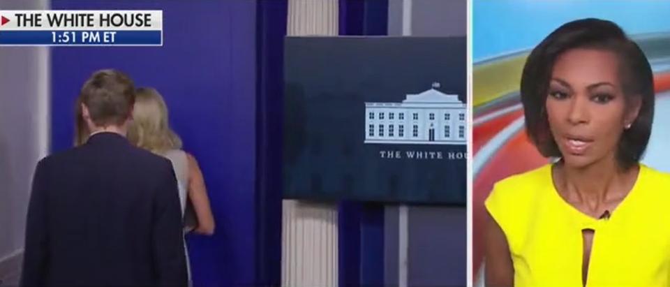 Harris Faulkner calls McEnany ending a 'mic drop' (Fox News screengrab)