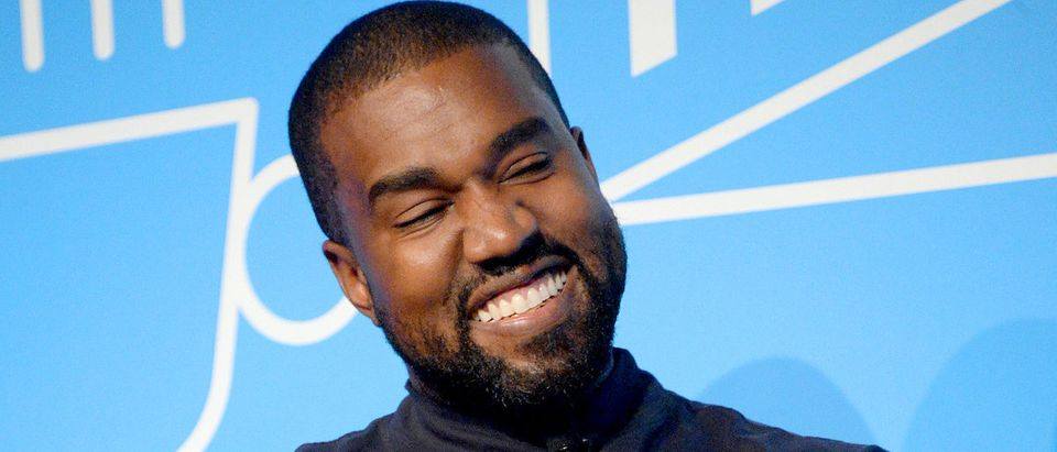 """Kanye West speaks on stage at the """"Kanye West and Steven Smith in Conversation with Mark Wilson"""" at the on November 07, 2019 in New York City. (Photo by Brad Barket/Getty Images for Fast Company)"""