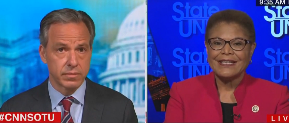 Karen Bass says LA County 'opened a little too quickly' (CNN screengrab)