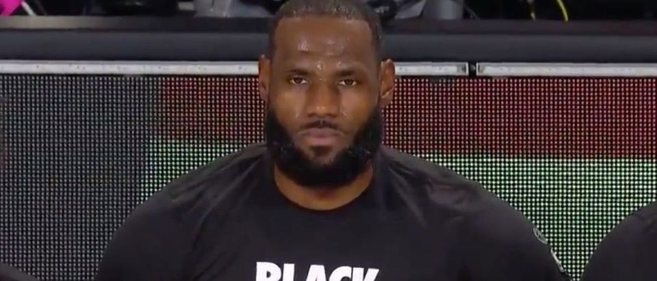 LeBron James (Credit: Screenshot/Twitter Video https://twitter.com/BleacherReport/status/1289008128374145024)