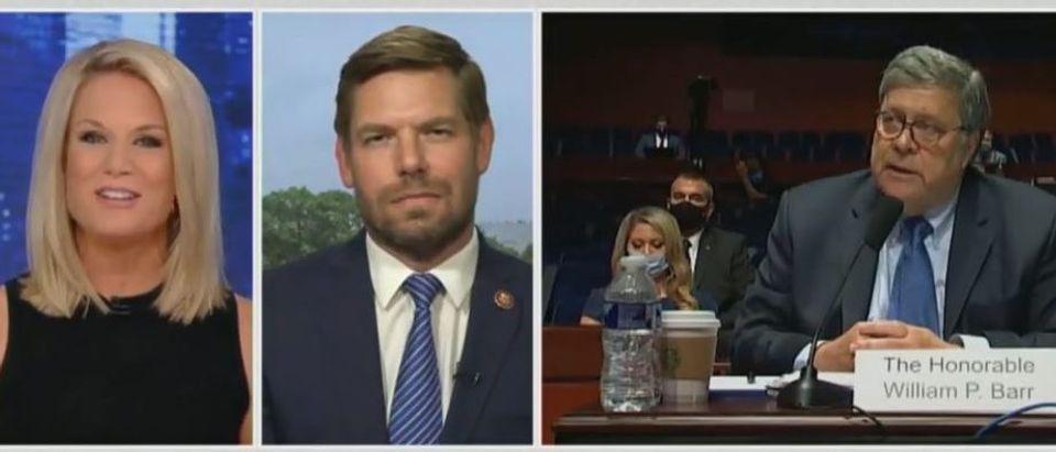 Martha MacCallum grills Eric Swalwell (Fox News screengrab)