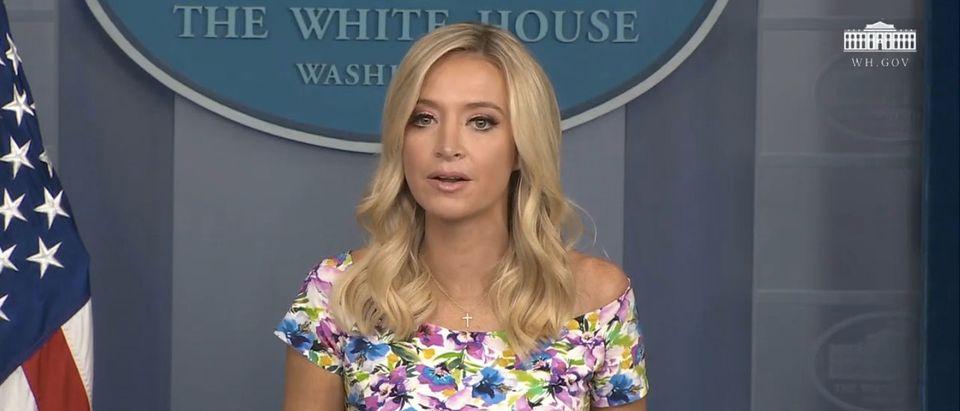 White House Press Secretary Kayleigh McEnany. (Screenshot/YouTube/White House)