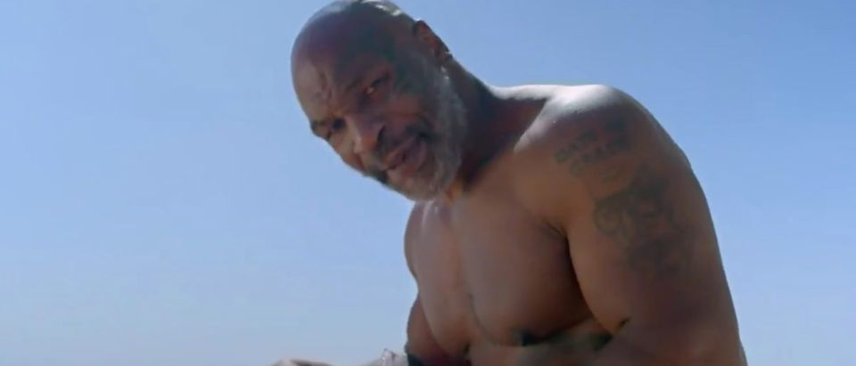Mike Tyson (Credit: Screenshot/Twitter Video https://twitter.com/sharkweek/status/1283398668897390598?s=21)