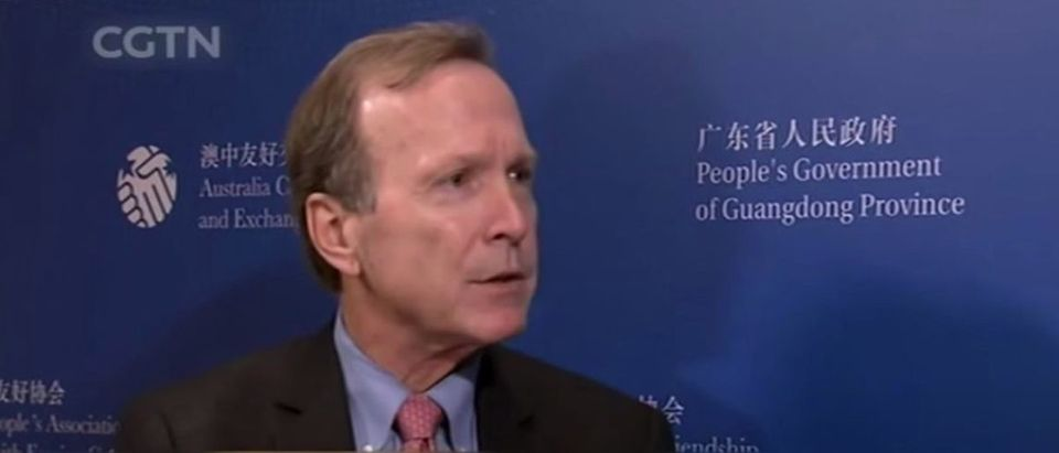 Neil Bush speaks to CGTN about protests in Hong Kong. (YouTube screen capture/CGTN)