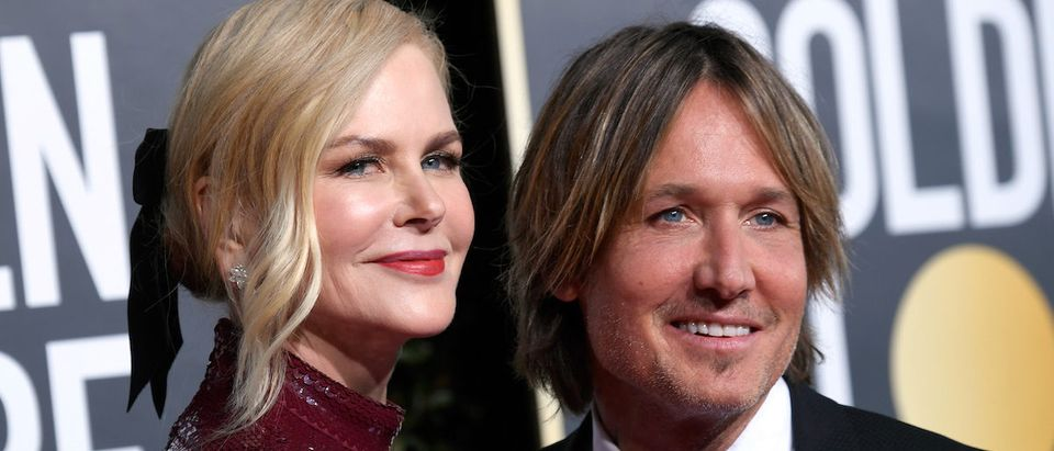 Nicole Kidman (L) and Keith Urban attend the 76th Annual Golden Globe Awards at The Beverly Hilton Hotel on January 6, 2019 in Beverly Hills, California. (Photo by Frazer Harrison/Getty Images)