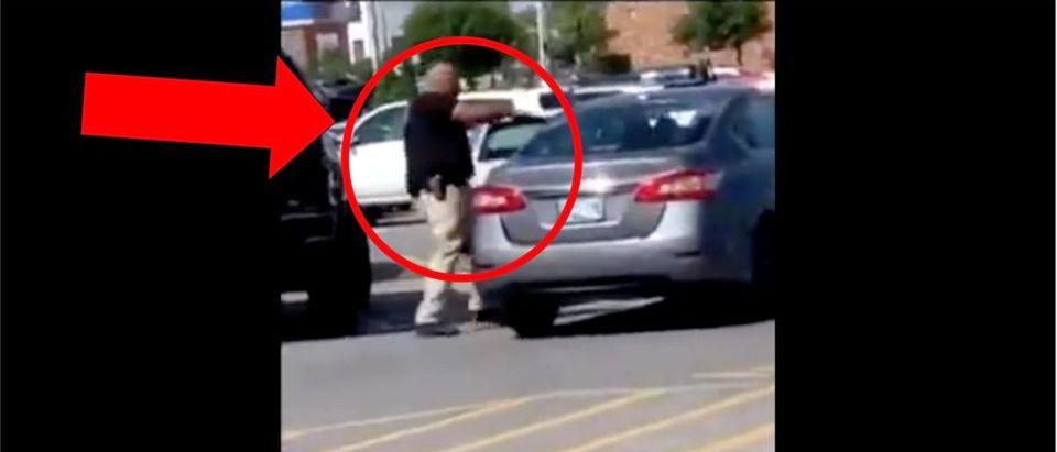 Oklahoma Walmart Shooting (Credit: Screenshot/TMZ Video https://www.tmz.com/2020/07/05/del-city-walmart-shooting-cop-bbq-grill-oklahoma/)