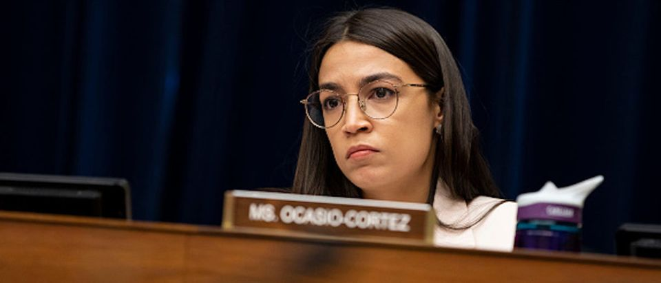 Rep. Alexandria Ocasio-Cortez (D-NY) listens during a House Civil Rights and Civil Liberties Subcommittee hearing on confronting white supremacy at the U.S. Capitol on May 15, 2019 in Washington, DC