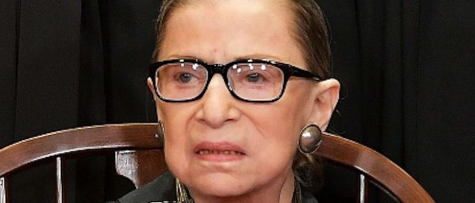 Ruth Bader Ginsburg poses for the official photo at the Supreme Court in Washington, DC on November 30, 2018