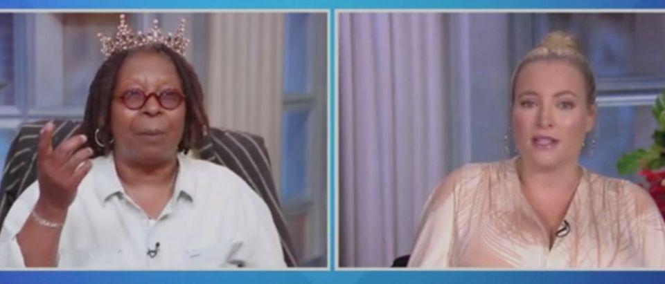 "Whoopi Goldberg and Meghan McCain appear on ""The View."" Screenshot/ABC"