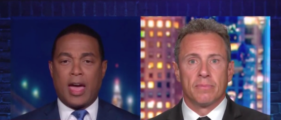 "CNN's Don Lemon and Chris Cuomo mocked ""right-wing"" media over crime reporting. (Screenshot CNN, CNN Tonight)"