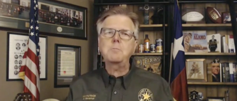 Dan Patrick condemned the anti-police message and the BLM movement. (Screenshot Fox News Channel, America's Newsroom)