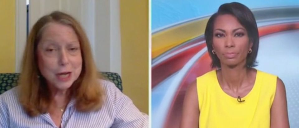 Former NYT editor Jill Abramson speaks with Harris Faulkner. Screenshot/Fox News