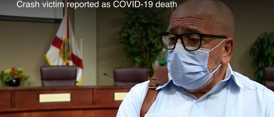 Orange County Health Officer Dr. Raul Pino speaks with Fox 35 Orlando. Screenshot/Fox 35