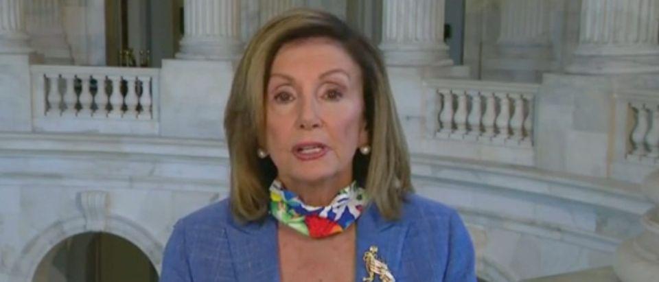 "Nancy Pelosi appears on ""Face the Nation."" Screenshot/CBS"