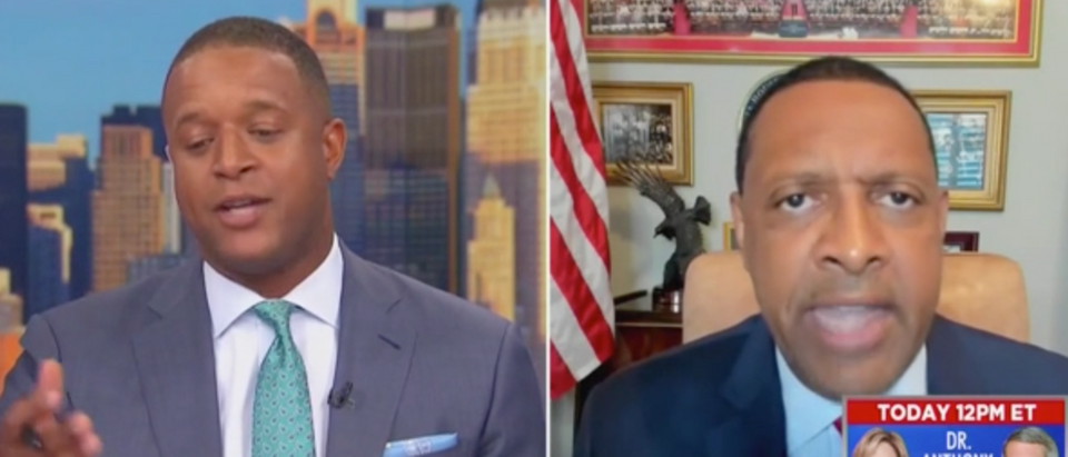 Democratic lawmaker who backs Trump rips into MSNBC's Craig Melvin for asking if he is getting compensated for voicing support for the president. (Screenshot MSNBC, MSNBC Live with Craig Melvin)