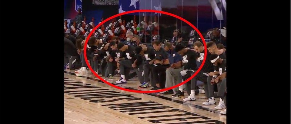 Jazz, Pelicans (Credit: Screenshot/Twitter Video https://twitter.com/BleacherReport/status/1288968452728750081)