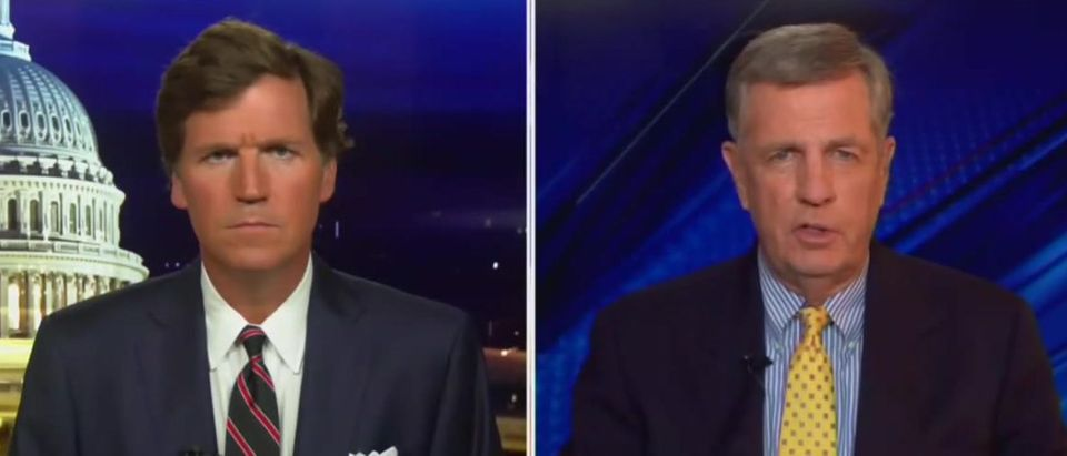 Tucker Carlson and Brit Hume discuss importance of election (Fox News screengrab)