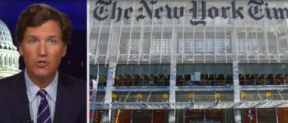 Tucker Carlson slams New York Times for upcoming report on where he lives (Fox News screengrab)