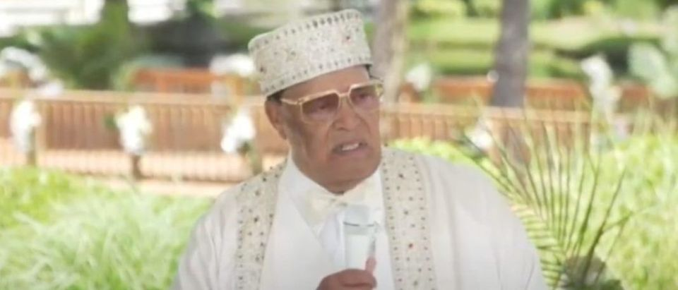 Louis Farrakhan addresses followers in Chicago, July 4, 2020. (YouTube screen capture/RevoltTv)