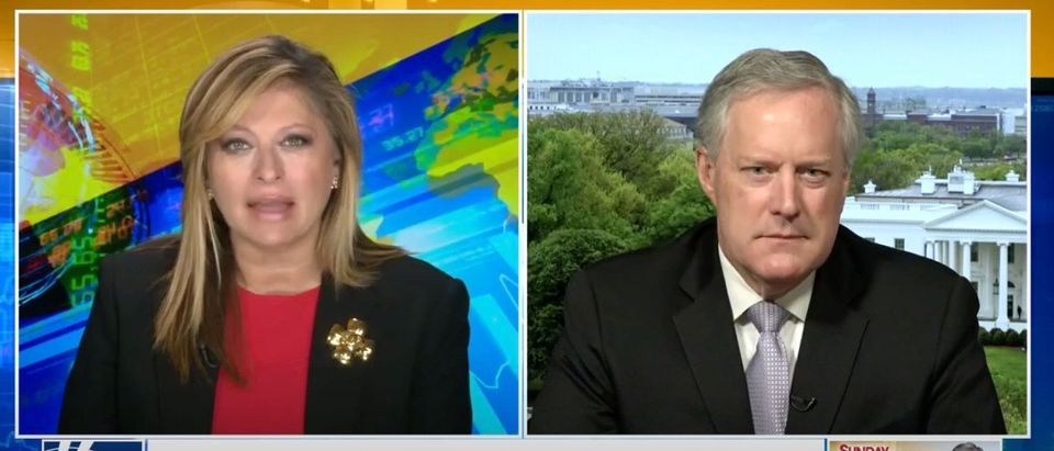 White House Chief of Staff Mark Meadows discusses the Durham probe, July 19, 2020. (YouTube screen capture/Fox News)