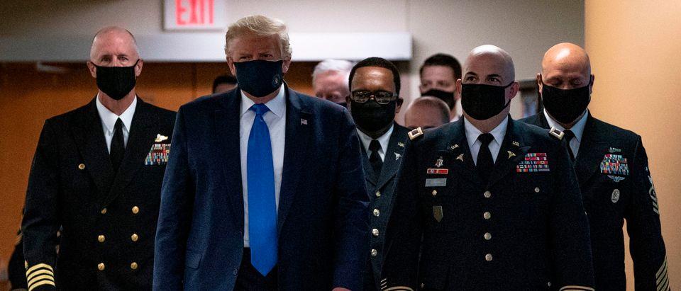Trump Wears Face Mask