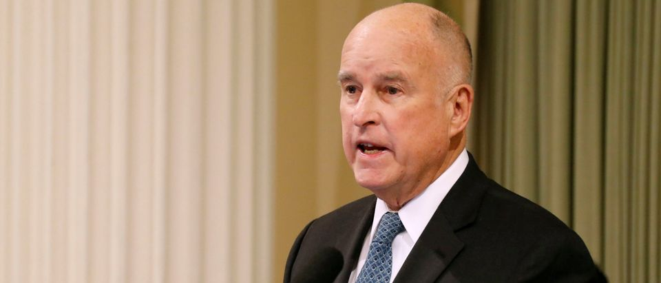 FILE PHOTO: California Governor Jerry Brown delivers his final state of the state address in Sacramento