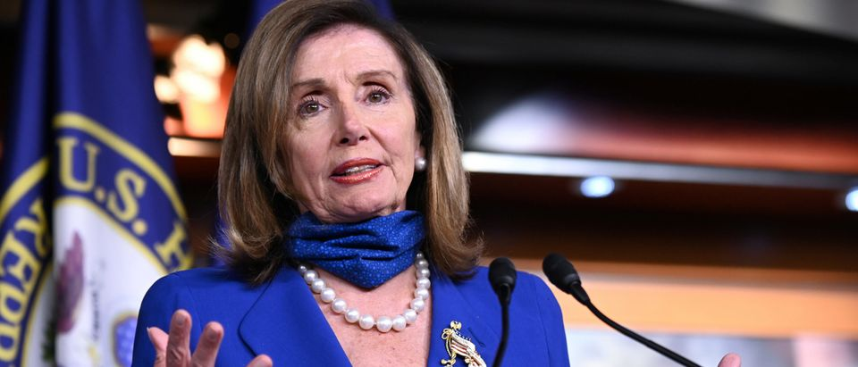 U.S. House Speaker Nancy Pelosi speaks at a news conference in the U.S. Capitol in Washington