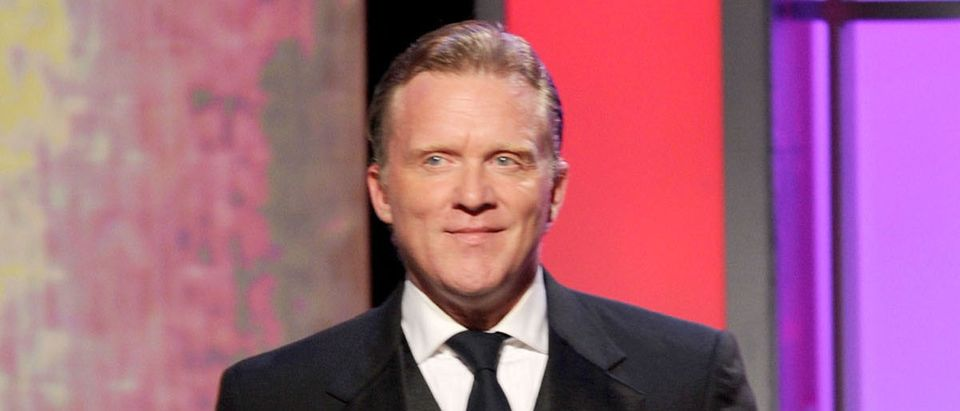 Actor Anthony Michael Hall speaks onstage during The 25th American Cinematheque Award Honoring Robert Downey Jr. held at The Beverly Hilton hotel on October 14, 2011 in Beverly Hills, California. (Photo by Kevin Winter/Getty Images)