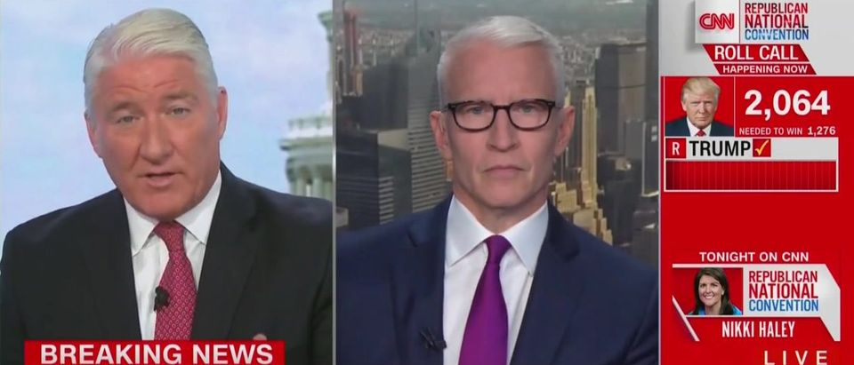 CNN interrupts Trump speech (CNN screengrab)