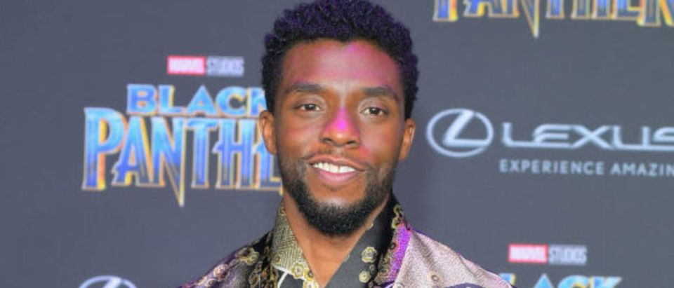 LOS ANGELES, CA - JANUARY 29: Chadwick Boseman arrives for the World Premiere of Marvel Studios Black Panther, presented by Lexus, at Dolby Theatre in Hollywood on January 29th. (Photo by Charley Gallay/Getty Images for Lexus )