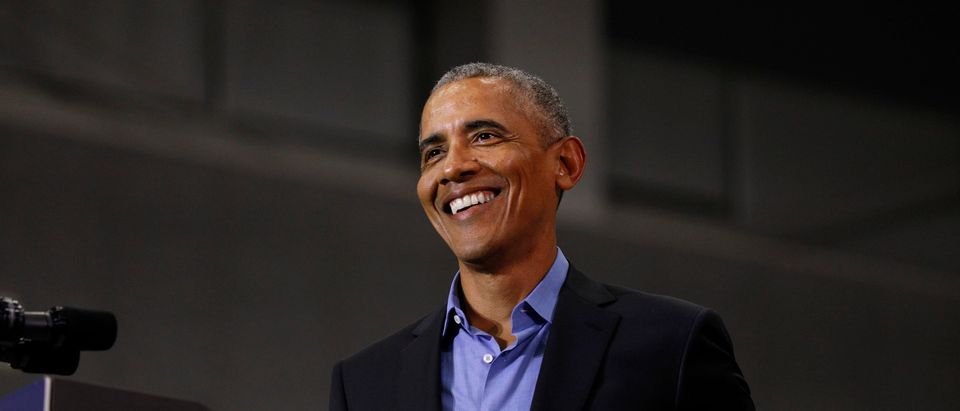 Former President Barack Obama speaks at a rally to support Michigan democratic candidates at Detroit Cass Tech High School on October 26, 2018 in Detroit, Michigan. (Bill Pugliano/Getty Images)