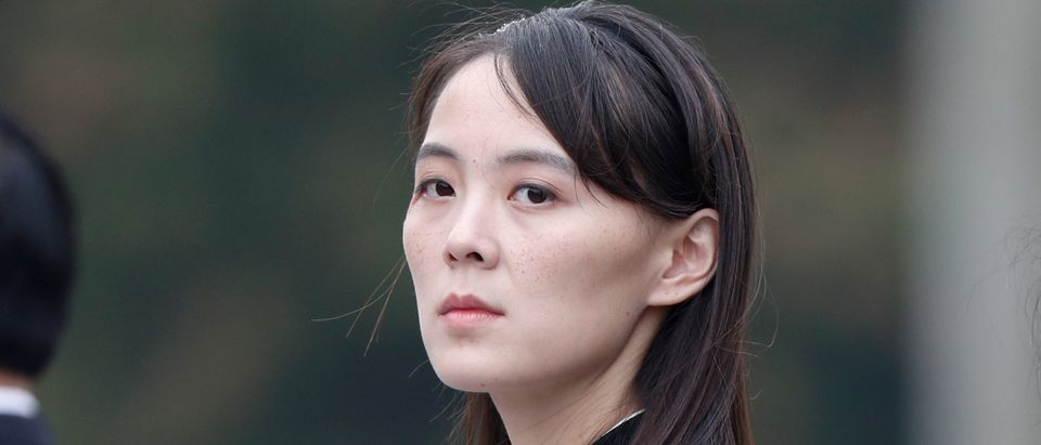 Kim Yo Jong, sister of North Korea's leader Kim Jong Un, attends wreath laying ceremony at Ho Chi Minh Mausoleum in Hanoi, March 2, 2019. (Photo: JORGE SILVA/AFP via Getty Images)