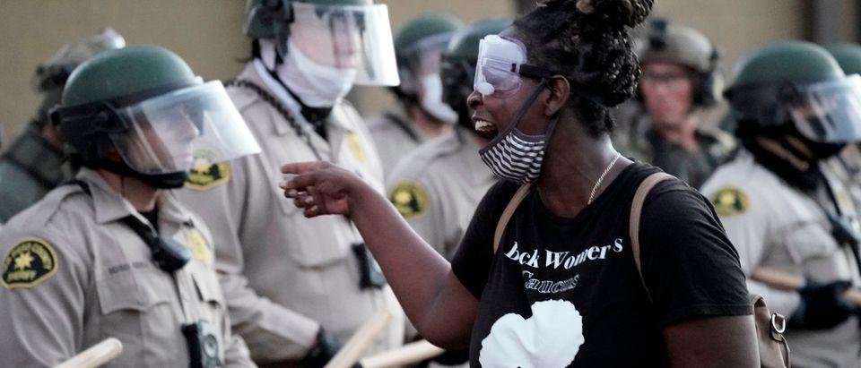 US-POLITICS-RACISM-UNREST-POLICE-DEMONSTRATION