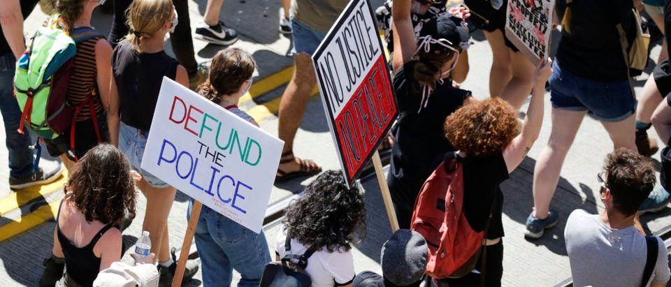 US-POLITICS-POLICE-DEMONSTRATION