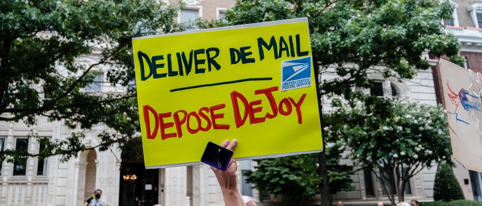 Protest Held Outside Postmaster General Louis DeJoy's DC Home