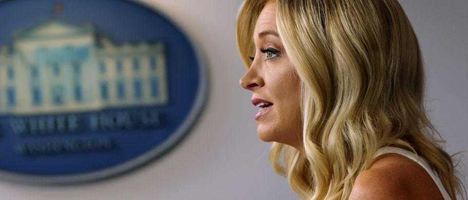 Press Secretary Kayleigh McEnany Briefs Media At White House