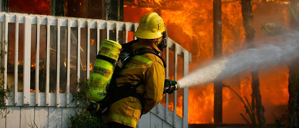 Santa Ana Winds Stoke Wildfires In Southern California