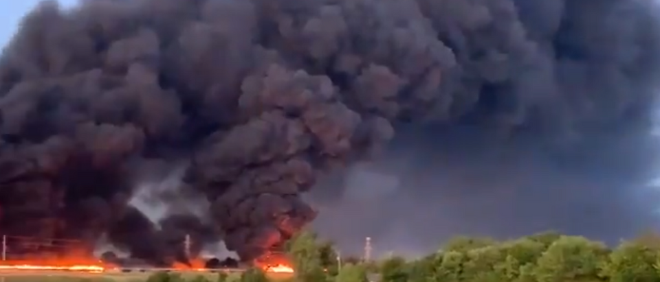 Grand Prairie Plant Fire