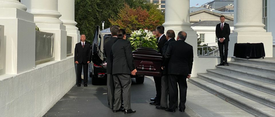 Funeral procession for Robert Trump. (Courtesy, White House)