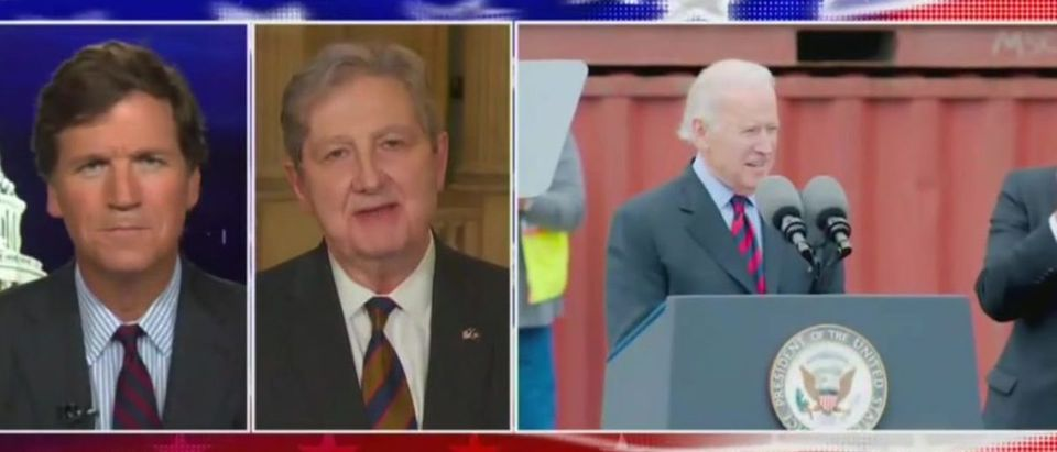 John Kennedy says Google can't find Joe Biden (Fox News screengrab)