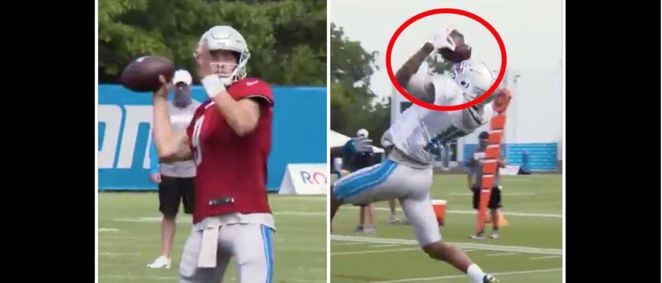 Matthew Stafford (Credit: Screenshot/Twitter Video https://twitter.com/Lions/status/1295518272675291136)