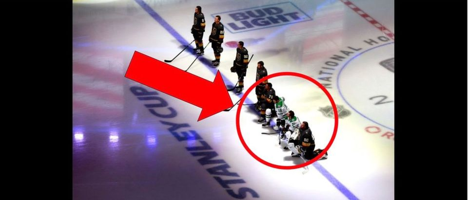 NHL Kneeling (Photo by Jeff Vinnick/Getty Images)