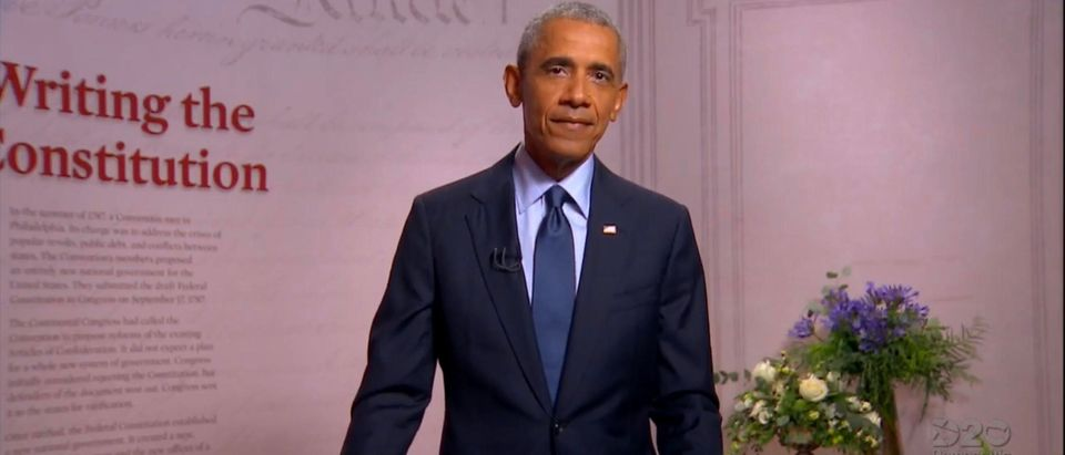 President Obama addresses the DNC. (Screenshot/YouTube/TheDemocrats)