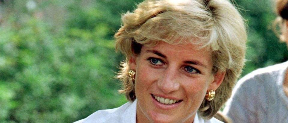 FILE PHOTO: Diana Princess of Wales smiles at an event held in support of land mine victims in Tuzla, Bosnia