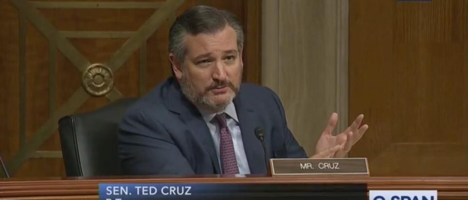 Sen. Ted Cruz speaks during the Antifa hearing on Tuesday